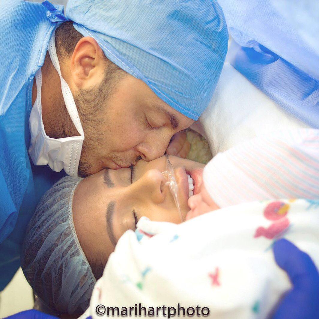 Thammy, Os pombinhos logo após o nascimento de Bento - Foto: Divulgação -