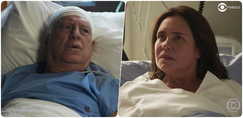 Uma fotomontagem do site TV Foco de Alberto de Bom Sucesso e Thelma de Amor de Mãe