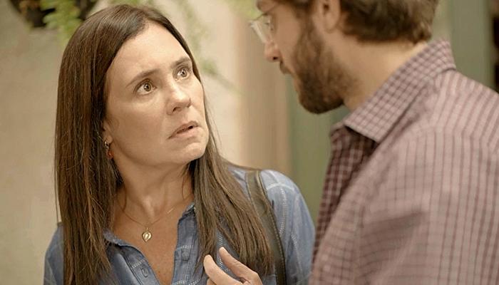 Thelma (Adriana Esteves) terá segredo revelado em Amor de Mãe: Danilo é adotado (Foto: Reprodução/Globo)
