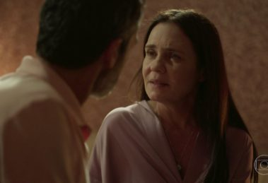 Thelma em cena na novela Amor de Mãe