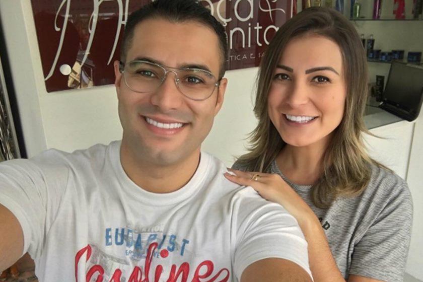 Andressa Urach com seu ex-marido, Tiago Costa (Foto: Reprodução/Instagram)