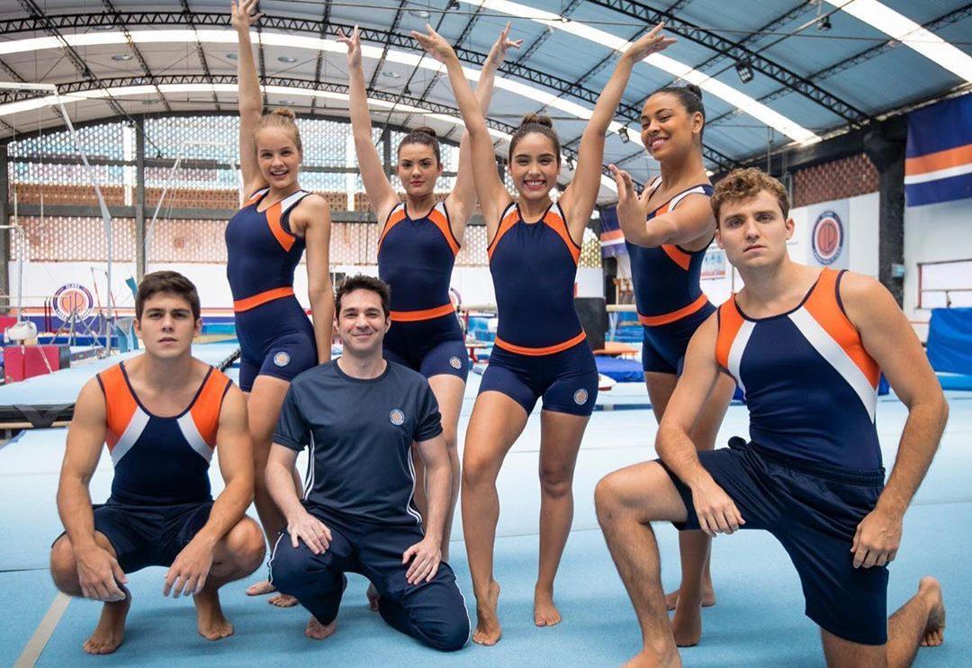 Os atletas da ginástica artística em Salve-se Quem Puder