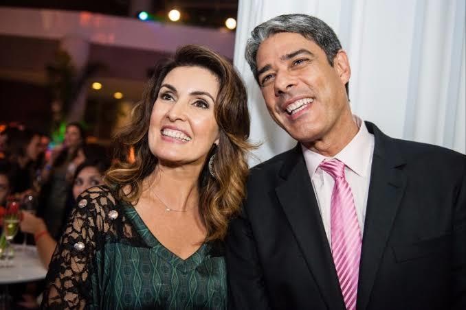 William Bonner e Fátima Bernardes enquanto ainda estavam juntos (Foto: reprodução)