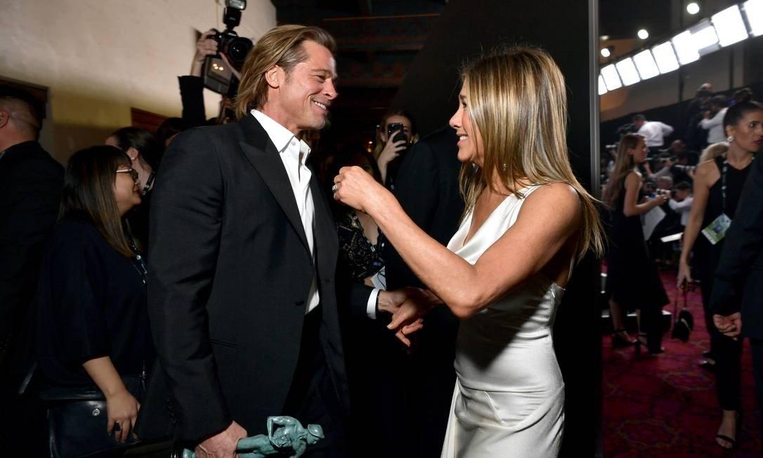 George Clooney banca o casamenteiro no retorno de Jennifer Aniston e Brad Pitt (Foto: Reprodução)
