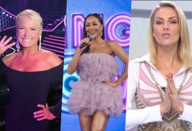 Xuxa, Sabrina Sato e Ana Hickmann vão comandar a programação da Record aos domingos (Foto montagem: TV Foco)