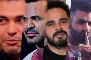 Zezé Di Camargo, Eduardo Costa, Luciano Camargo e Gusttavo Lima tiveram previsões feitas por sensitiva (Foto montagem: TV Foco
