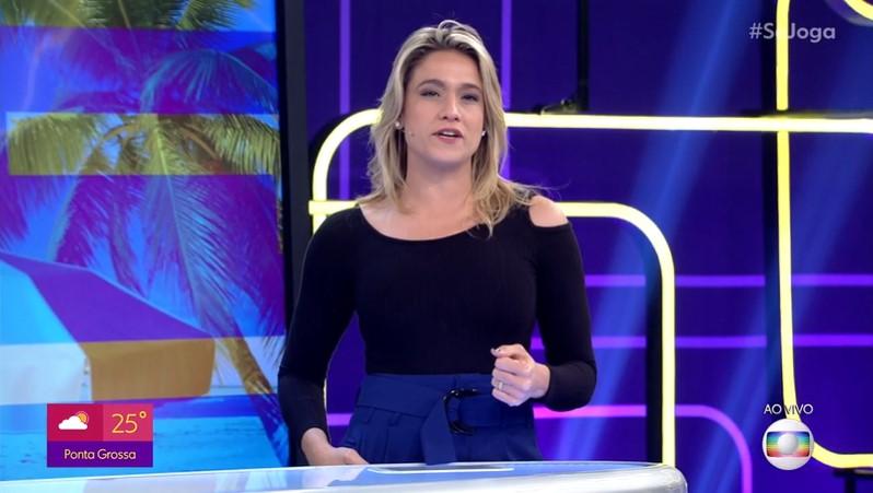 Fernanda Gentil no comando do Se Joga, que amargou nova derrota para a Record na audiência (Foto: Reprodução/Globo)