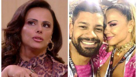 Viviane Araújo surge com o namorado na Sapucaí (Foto: Reprodução)