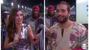 Ator da Globo solta o verbo ao vivo em conversa com Fátima Bernardes (Foto: Reprodução)