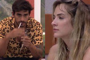 Guilherme ficou chateado com atitude de Gabi após eliminação de Bianca (Foto: Montagem)