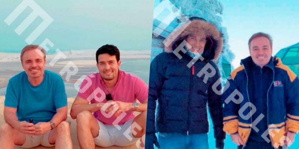 Fotos do suposto namorado de Gugu Liberato (Foto reprodução Metropoles)