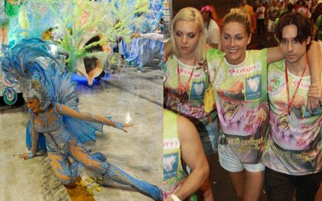 Ana Hickmann leva tombo no carnaval (Foto: reprodução)