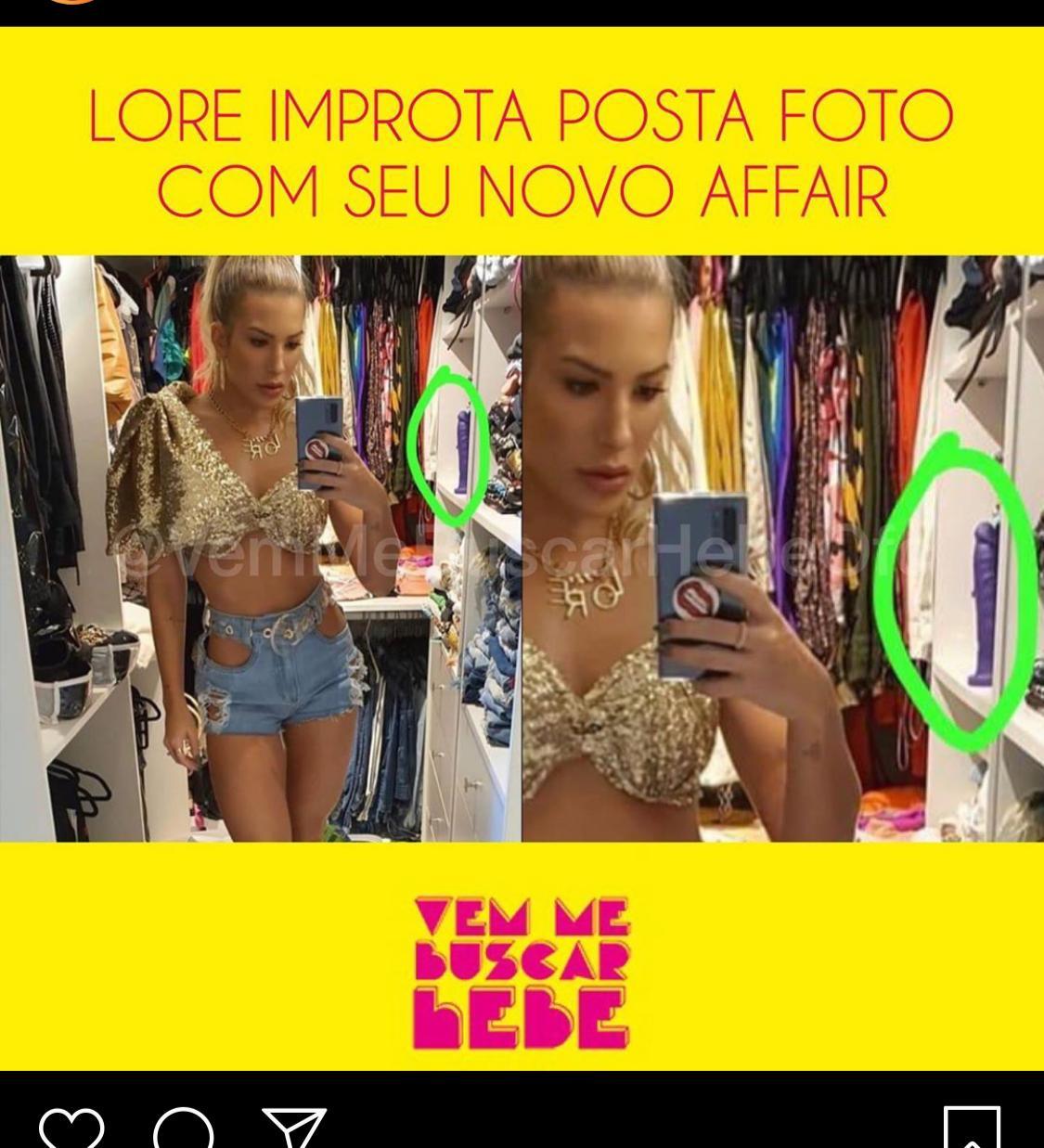 Ex-noiva de Léo Santana, Lore Improta expôs uma foto do seu look e acabou viralizando (foto: Reprodução)