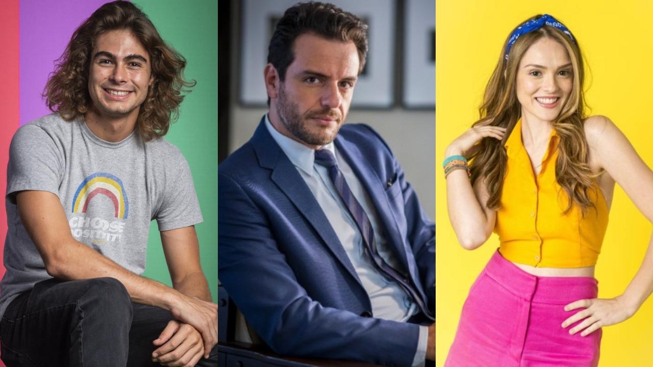 Rafa Vitti, Rodrigo Lombardi e Isabelle Drummond (Foto: Divulgação/TV Globo/Montagem TV Foco)