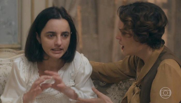 Justina (Júlia Stockler) ficará perturbada com lembrança do passado em Éramos Seis (Foto: Reprodução/Globo)