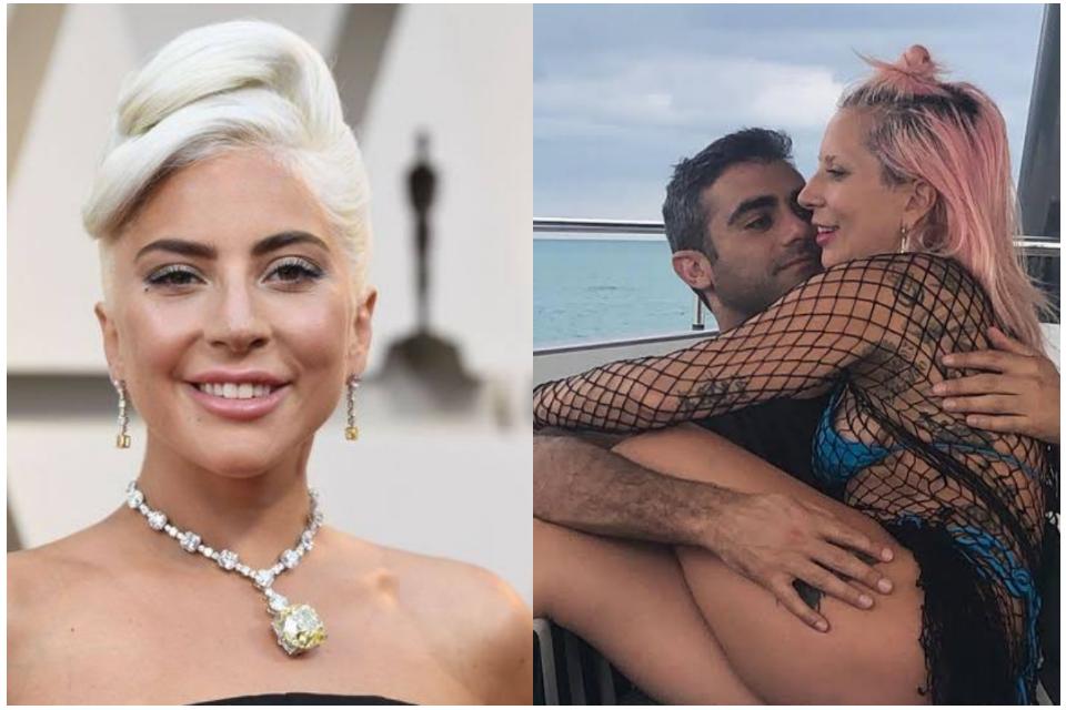 Lady Gaga compartilha foto no colo de novo affair, Michael Polansky (Foto: Reprodução)
