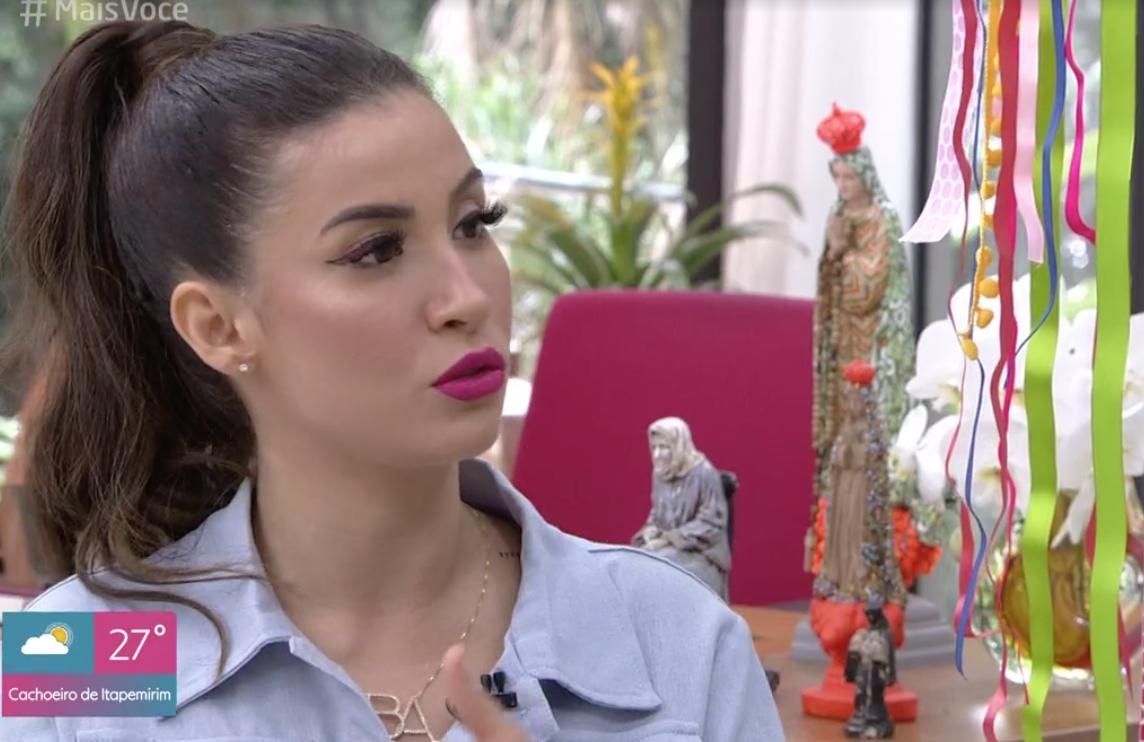 BBB20: Bianca Andrade quebra silêncio durante entrevista no Mais Você (Foto: Reprodução/Globoplay)