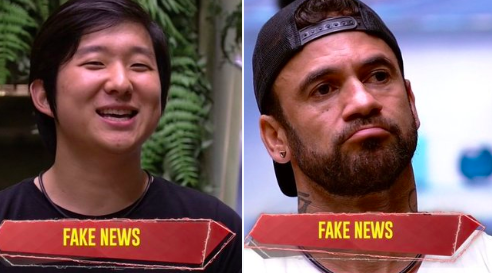 Pyong Lee e Hadson trocam categoria fake news (Foto: reprodução)