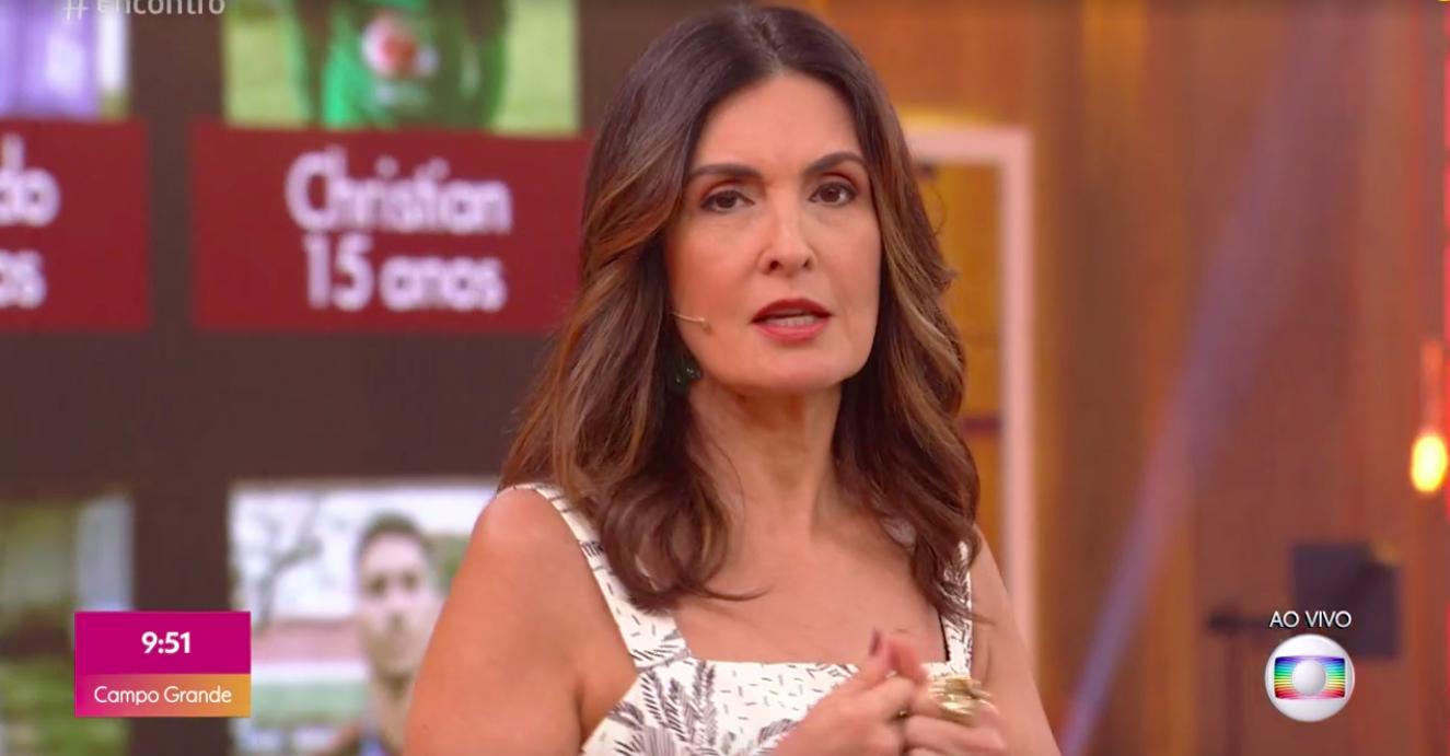 A famosa apresentadora do Encontro, Fátima Bernardes entrega programa para filiada da Globo e choca telespectadores com notícia (Foto: Reprodução/Globoplay)