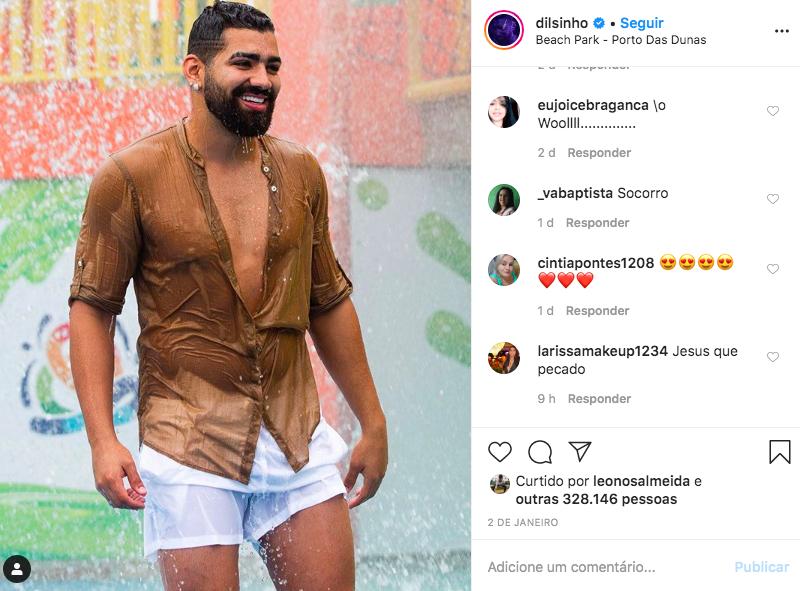O famoso pagodeiro deixou os seus seguidores de queixo caído ao mostrar todos os seus dotes nas redes sociais (Foto: Reprodução/Instagram)