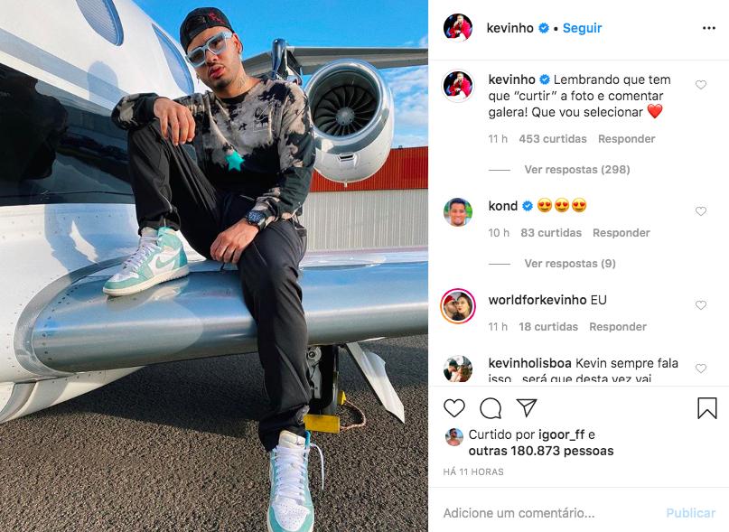 O famoso cantor e funkeiro brasileiro, Kevinho se tornou um dos assuntos mais comentados das redes ao ser detonado após fazer proposta para fãs (Foto: Reprodução/Instagram)