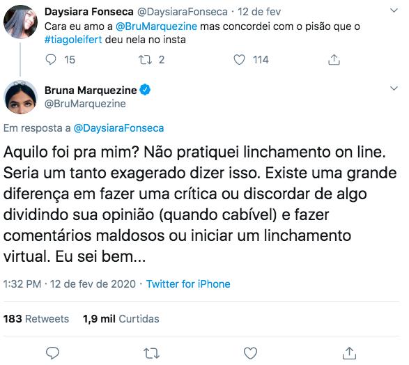 Bruna Marquezine responde recado do apresentador da Globo (Foto: reprodução/Instagram)
