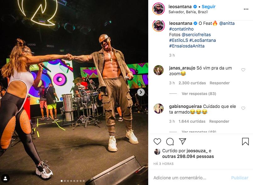 O famoso baiano deixou os seus seguidores babando após compartilhar cliques ousados (Foto: Reprodução/Instagram)