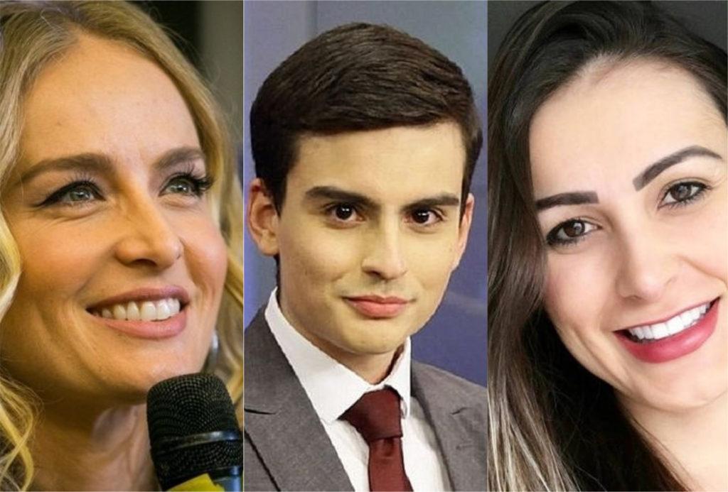 Angélica, Andressa Urach e Dudu Camargo tentaram substituir Hebe Camargo e sofreram dura consequências (Foto: montagem TV Foco)