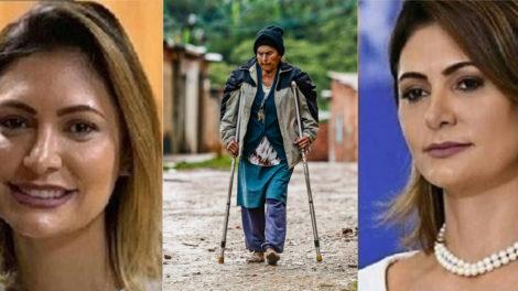 Michele Bolsonaro é acusada de abandonar própria avó em esgoto aberto e faz descoberta de irmã gêmea perdida (Foto: montagem TV Foco)
