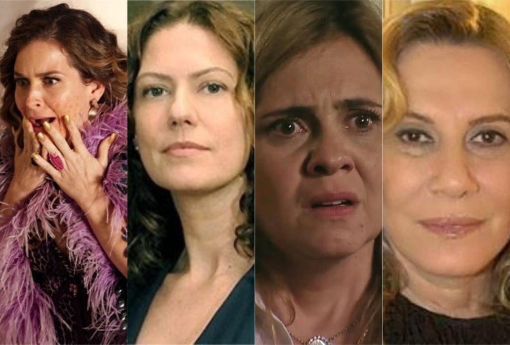 Nazaré, Carminha, Chayene, Flora, qual vilã combina mais com sua personalidade? (Foto: montagem TV Foco)