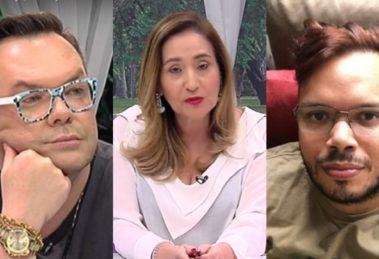 Felipeh Campos, Sonia Abrão e Guilherme Beraldo (Foto: Reprodução/RedeTV!/Instagram/Montagem TV Foco)