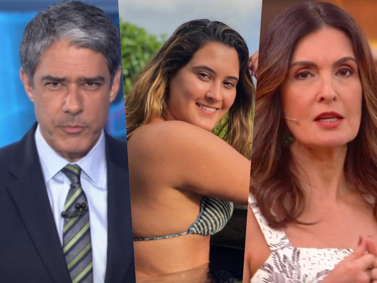 A filha de William Bonner e Fátima Bernardes, Beatriz Bonemer deixou os seus fãs chocados com atitude (Foto: Reprodução/Montagem TV Foco)