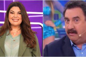 globo Fabiana Karla mandou beijo para Ratinho (Reprodução)