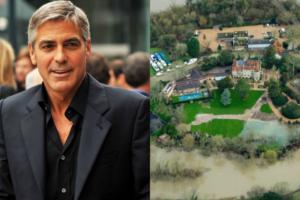 Mnsão de George Clooney é alagada após temporal (Foto: Reprodução)