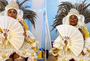 Jojo Toddynho desfila com fantasia da Xica da Silva (Foto: Reprodução/Instagram)