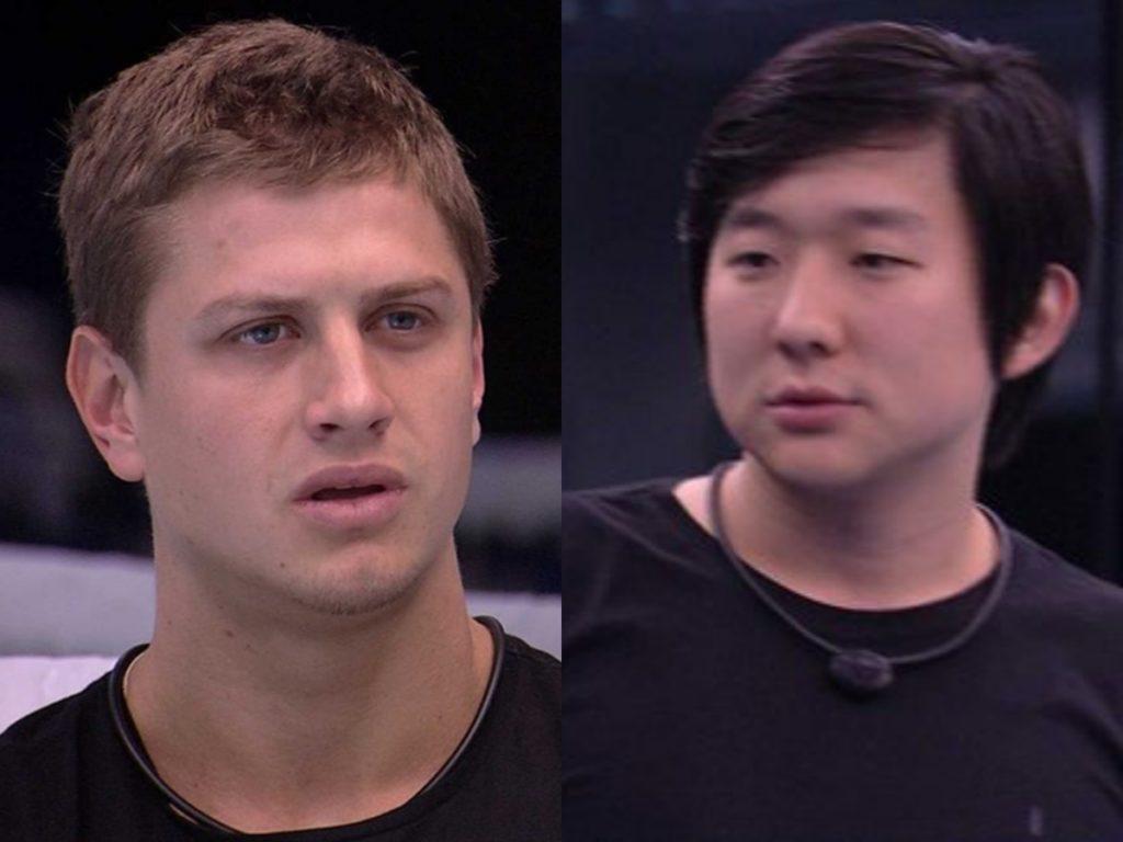 Lucas diz que vai enfrentar Pyong Lee na frente de todo mundo no BBB20, da Globo (Foto: Reprodução/Montagem TV Foco)