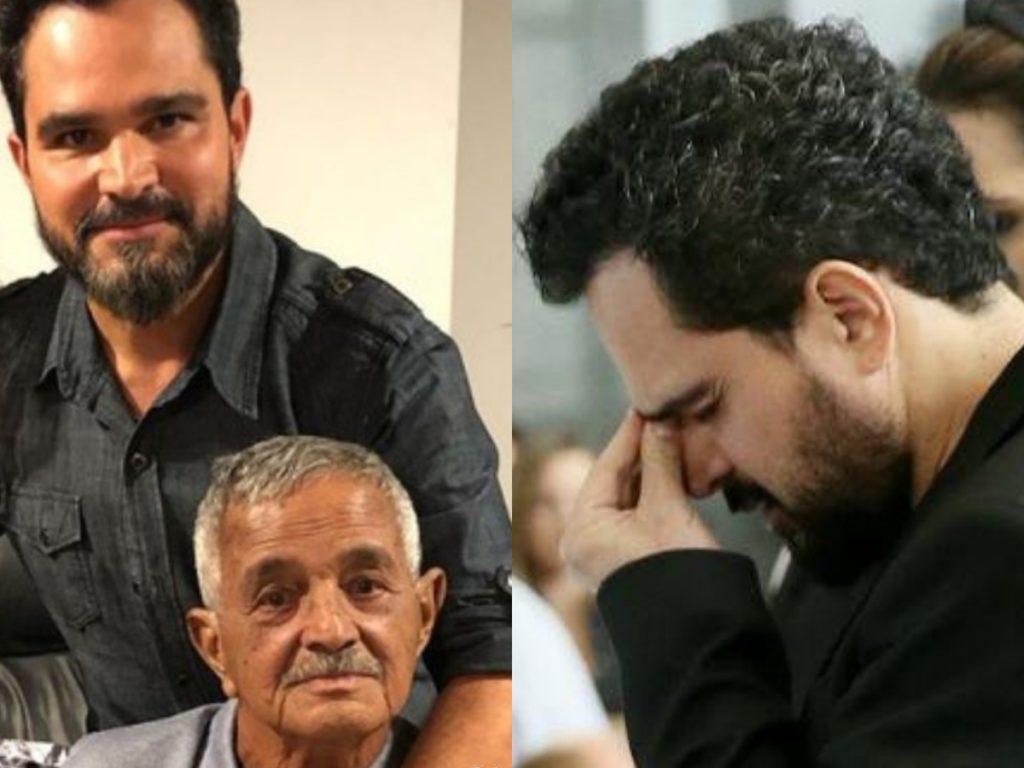 Luciano Camargo se emociona ao falar do pai (Foto: Reprodução)