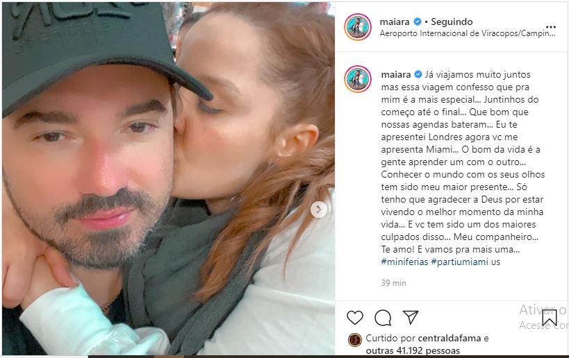 Maiara posa com Fernando em nova viagem