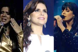 Mara Maravilha, Aline Barros e Fernanda Brum têm valores de cachês de shows divulgados em site (Montagem: TV Foco)