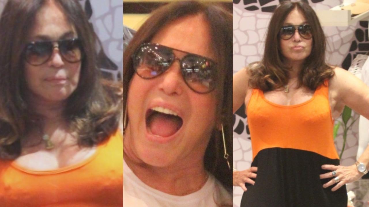 Susana Vieira deu show de simpatia em shopping do Rio (Foto: Rodrigo Adão/AgNews/Montagem TV Foco)