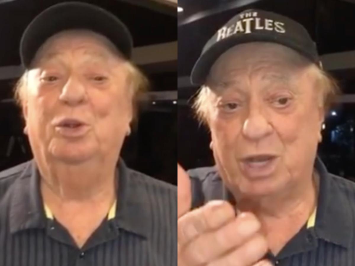 O famoso apresentador do SBT, Raul Gil compartilhou um vídeo comemorando os seus 82 anos de vida (Foto: Reprodução/Montagem TV Foco)