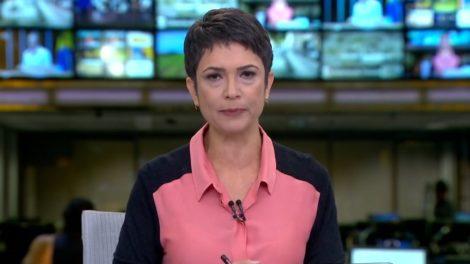 Sandra Annenberg no estúdio do Jornal Hoje (foto: reprodução/TV Globo)