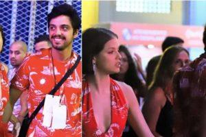 Agatha Moreira e Rodrigo Simas são filmados discutindo em camarote na Sapucaí - Foto: AgNews