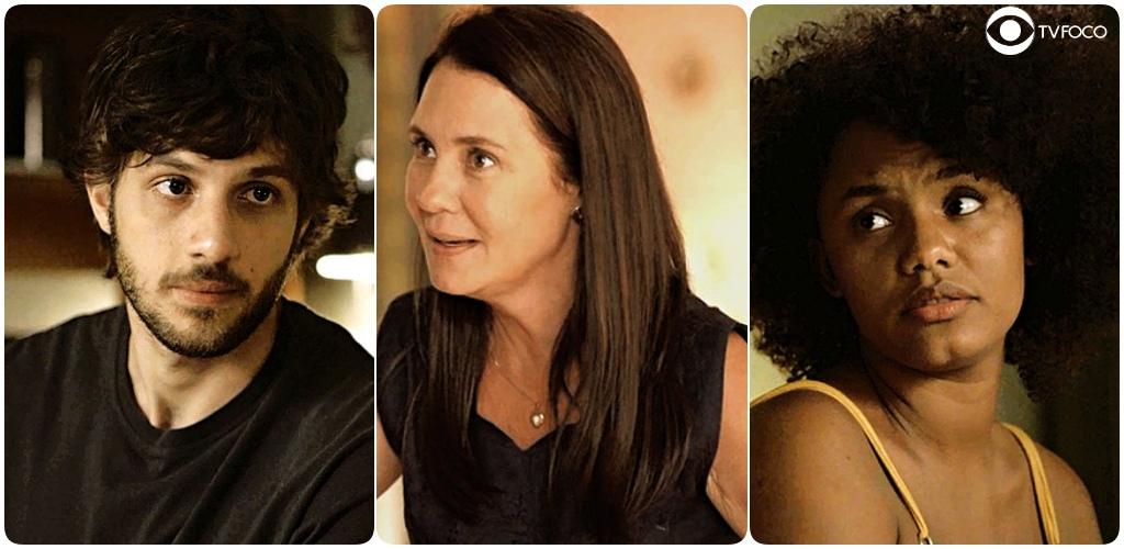 Danilo e Camila ficam assustados com Thelma em Amor de Mãe