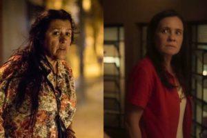 Em Amor de Mãe, Thelma vira assassina de conterrânea de Lurdes (Montagem: TV Foco)