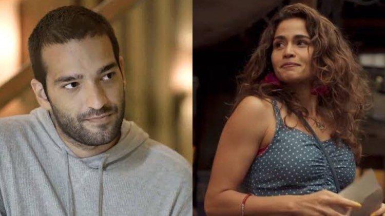 Em Amor de Mãe, explode a paixão entre Érica e Sandro (Montagem: TV Foco)