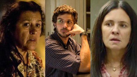 Amor de Mãe, Thema descobre que Danilo é filho de Lurdes (Montagem: TV Foco)
