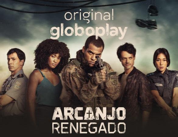Poster de divulgação da série Arcanjo Renegado, novo projeto da Globo