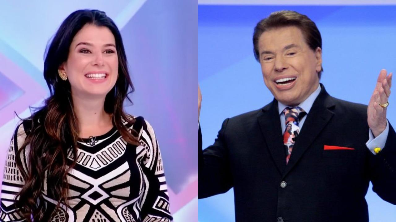 Renata Abravanel e Silvio Santos (Foto: Divulgação/SBT/Montagem TV Foco)