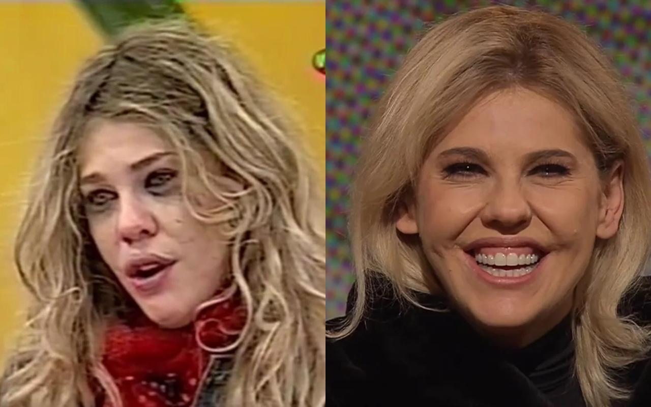 A atriz Bárbara Paz antes e depois do Casa dos Artistas (Foto: reprodução)